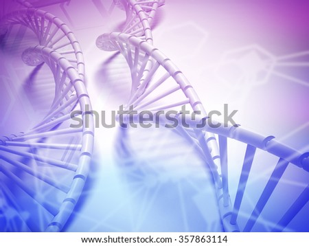 DNA structure abstract concept with Chemical polygon. #357863114