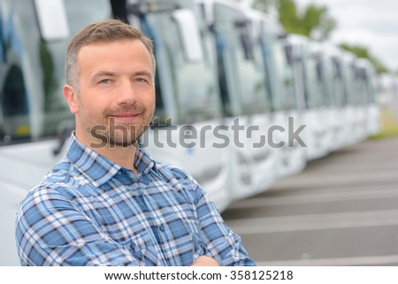 man and buses #358125218