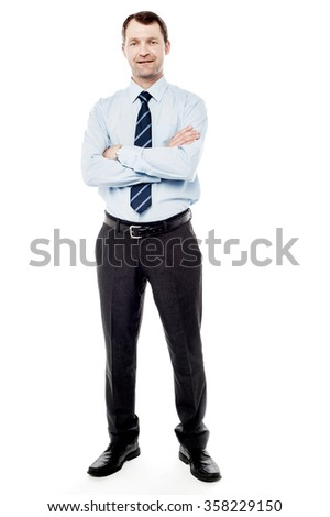 Full length picture of a confident male executive