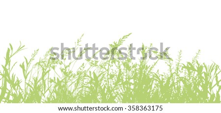 Seamless Background Tracing of grass. Vector #358363175