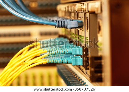 Fiber optic connecting on core network swtich #358707326