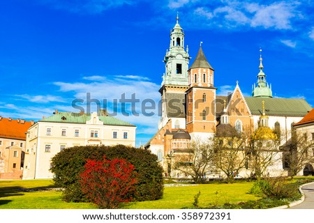 Wawel Cathedral in Krakow, Poland. #358972391