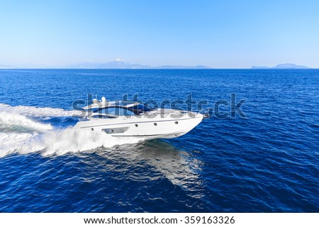 luxury motoryacht in  navigation #359163326