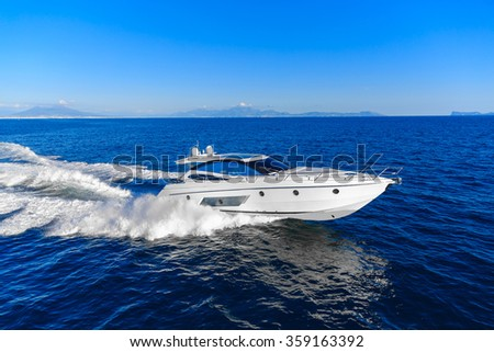 luxury motoryacht in  navigation #359163392