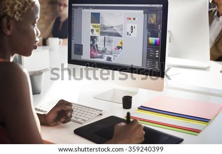 Graphic Designer Creativity Editor Ideas Designer Concept Royalty-Free Stock Photo #359240399