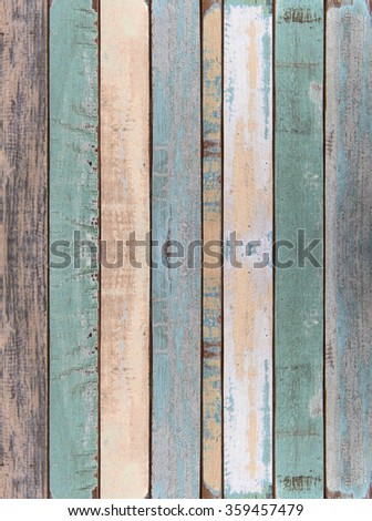 Old color wood plank texture and background #359457479