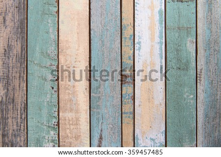 Old color wood plank texture and background #359457485
