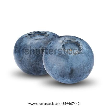 Fresh Group of Blueberry On White Background #359467442