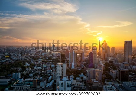 Building cityscape sunset #359709602