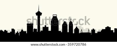 San Antonio morning skyline - Vector