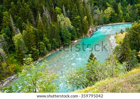 Mountain river in the Caucasus #359795042