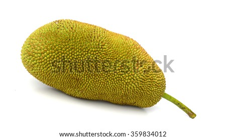 jackfruit isolate on white background #359834012