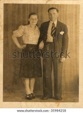 Husband and wife. Ukraine (composed USSR), mid 20 century.