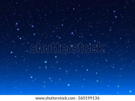 Stars in night sky. Background illustration Royalty-Free Stock Photo #360199136