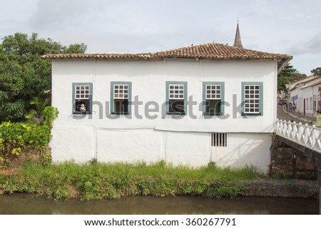 CITY OF GOIAS, BRAZIL - JANUARY 1, 2016: Old house in the historic centre of City Of Goias on January, 2016, City Of Goias, Brazil. #360267791