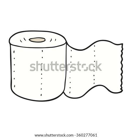 freehand drawn cartoon toilet paper