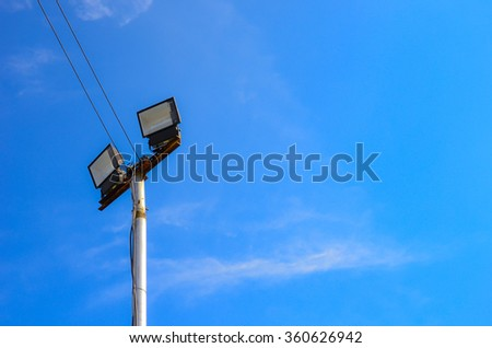 blue sky background with lamp #360626942