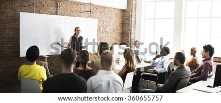 Business Team Training Listening Meeting Concept #360655757