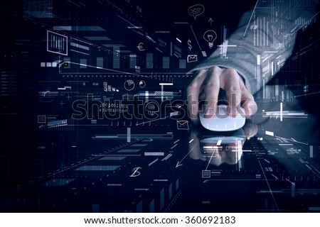 Businessman using mouse Royalty-Free Stock Photo #360692183