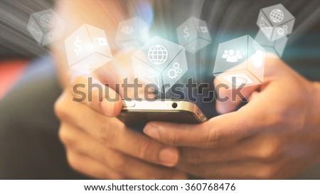 Social media,social network concept.  #360768476