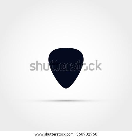 Guitar pick icon