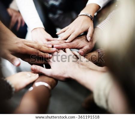 Team Teamwork Join Hands Partnership Concept #361191518