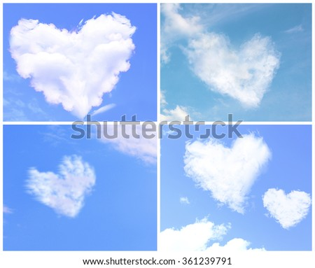 Collage of clouds in heart shaped #361239791