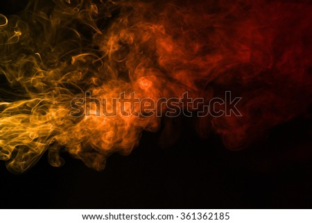 Smoke texture red and orange color pattern #361362185