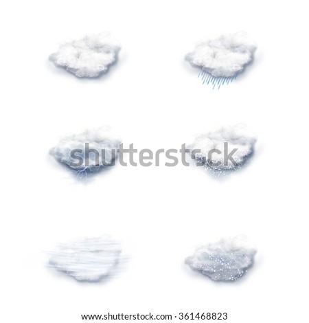 Weather Forecast Icons Set, on a white background #361468823