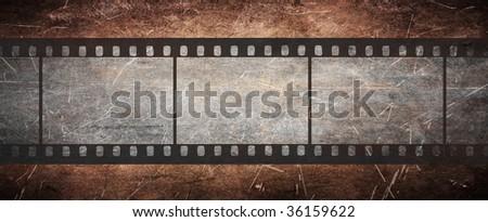 vintage film negative on grunge old background - more available #36159622