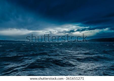 Turbulent Ocean Royalty-Free Stock Photo #361651271