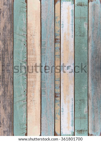 Wall and floor old color wood plank texture for background #361801700