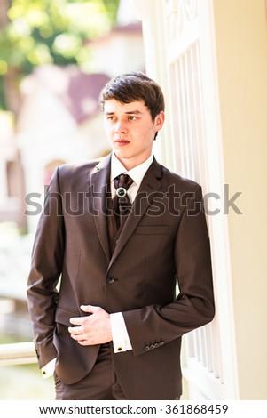 groom in the wedding suit #361868459