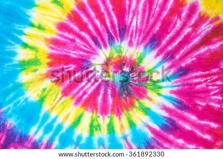 rainbow spiral tie dye pattern background. #361892330