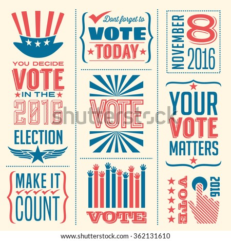 banner collection to encourage voting in 2016 elections