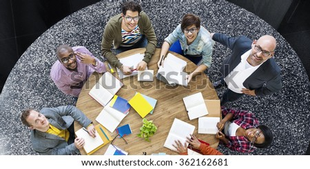 Students Team Studying Meeting Brainstorming Concept #362162681
