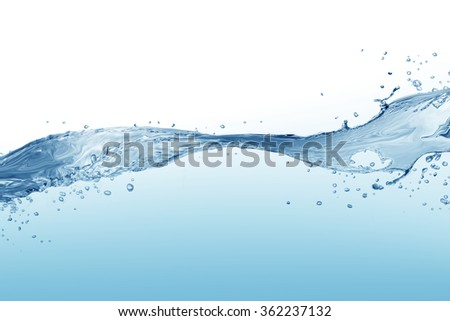 Water splash isolated on white.  water  splash of water forming   #362237132