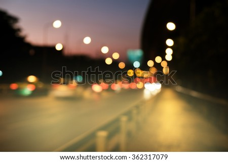 blur bokeh traffic background abstract  #362317079