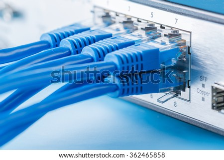 Network switch and ethernet cables, small home network #362465858