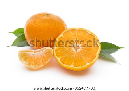 Mandarin on the isolated white background. #362477780
