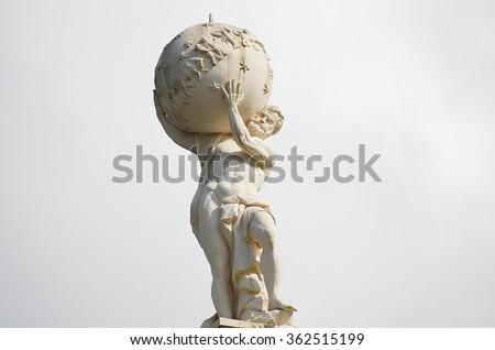 Atlas God Statue Royalty-Free Stock Photo #362515199