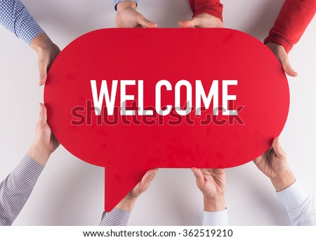 Group of People Message Talking Communication WELCOME Concept Royalty-Free Stock Photo #362519210