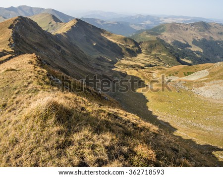 Ridge of the Rodnei Mountains in Romania #362718593