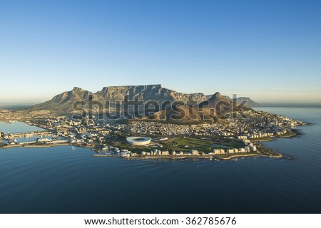 Table Mountain Capetown South Africa Royalty-Free Stock Photo #362785676