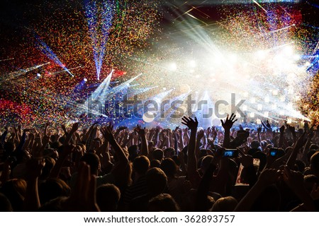 Fun concert party disco light background Royalty-Free Stock Photo #362893757