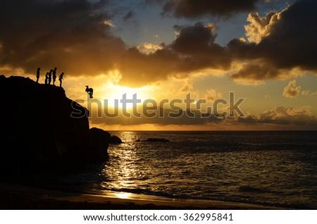 Back Flip at the North Shore, Hawaii Royalty-Free Stock Photo #362995841