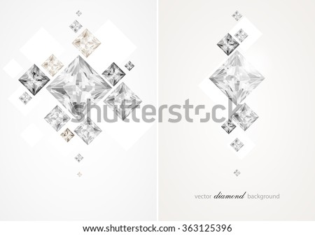 Set with abstract diamond backgrounds