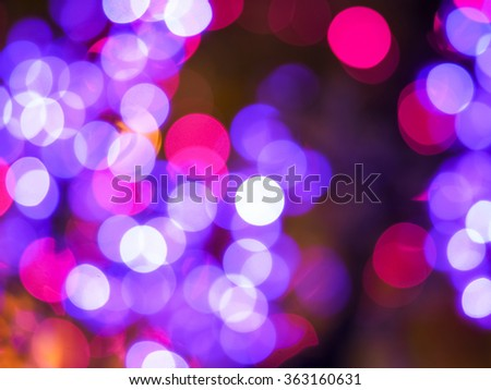 blurred lights or bokeh lights from disfocused the camera lens #363160631