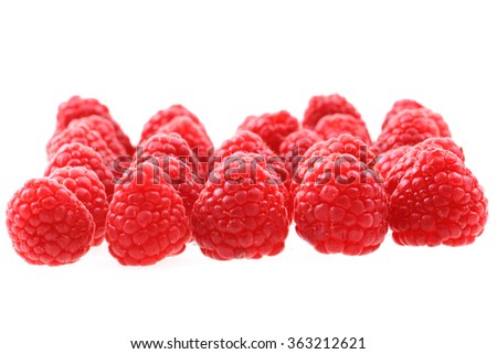 fresh red raspberries as nice fruit background #363212621