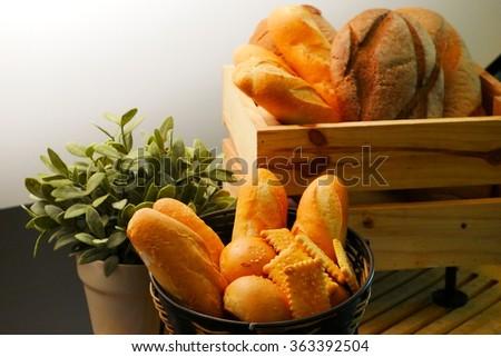 Breads in basket #363392504